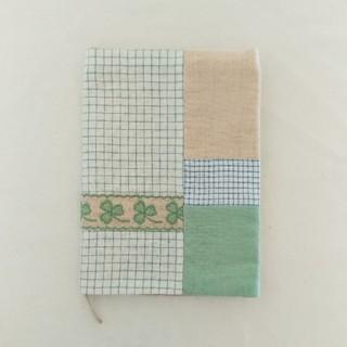 B6 三つ葉のクローバーの手帳カバー / ブックカバー / 単行本サイズ(ブックカバー)