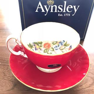 エインズレイ(Aynsley China)の新品未使用 エインズレイ   ティーカップセット 赤 レッド(グラス/カップ)