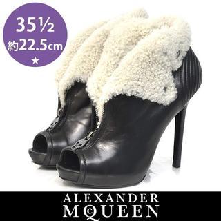 アレキサンダーマックイーン(Alexander McQueen)のアレキサンダーマックイーン ドクロチャーム ブーティー 35 1/2(約22.5(ブーティ)