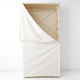 MUJI (無印良品) - 無印良品 綿落ちワタパイン材ユニットシェルフ・ワードローブ用カバー