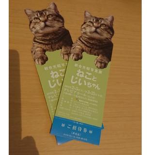 ねことじいちゃんチケット2枚(美術館/博物館)