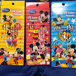 ディズニー(Disney)のディズニー 色鉛筆 3箱まとめうり ミッキー ミニー(色鉛筆 )