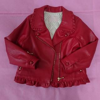 シャーリーテンプル(Shirley Temple)のジャケット 赤 サイズ120(ジャケット/上着)