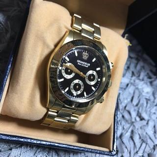 グランドール(GRANDEUR)のGRANDEUR ゴールド 腕時計(腕時計(アナログ))
