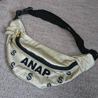 アナップキッズ(ANAP Kids)のANAP KIDS ゴールドバッグ ショルダー ウエストポーチ 斜め掛け(その他)
