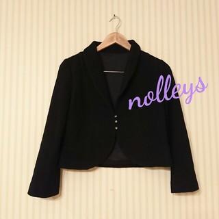 ノーリーズ(NOLLEY'S)のnolley,s ☆ブラック・ ウール デザイン ジャケット(テーラードジャケット)