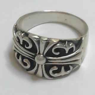 シルバー SILVER 925 百合クロス 未使用品 クロムAG (リング(指輪))