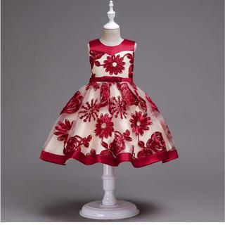 72a3e7bbacd44 ピアノ発表会 子供ドレス 結婚式 総レース 女の子用 フォーマルドレス(ドレス