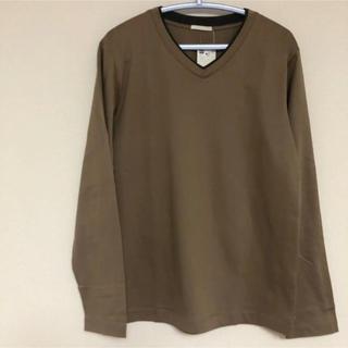 ジーユー(GU)の重ねVネックライン ロングTシャツ(Tシャツ/カットソー(七分/長袖))