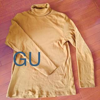 ジーユー(GU)のジーユー 起毛 タートルネックTシャツ(Tシャツ/カットソー(七分/長袖))