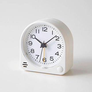 MUJI (無印良品) - 【新品】MUJI  アナログ目覚まし時計 ホワイト 2set