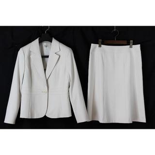 アリスバーリー(Aylesbury)のアリスバーリー スカートスーツ 13 LL 白 ライトベージュ tqe★極美品★(スーツ)