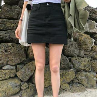 ディーホリック(dholic)のスカート キュロット ブラック ショーパン 台形(キュロット)