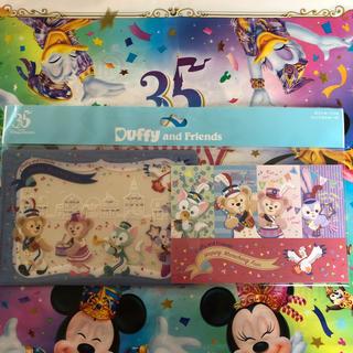 ディズニー(Disney)のダッフィー ポストカード2枚 クリアホルダー付き 新品未開封♡(キャラクターグッズ)