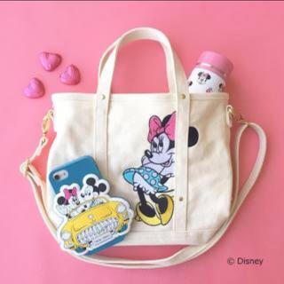 ディズニー(Disney)のディズニー♡ミニーマウス トートバッグ ショルダーバッグ(トートバッグ)
