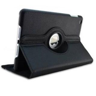 iPad mini /2/ 3/ 360度回転機能付き ブラック レザーケース(iPadケース)