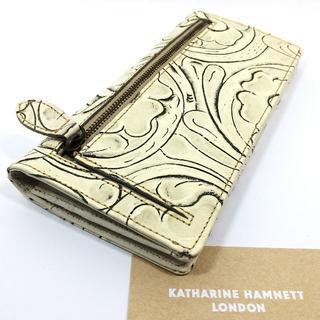 キャサリンハムネット(KATHARINE HAMNETT)の新品!キャサリン ハムネット リアルレザー クラフト箱付 長財布 e822(長財布)