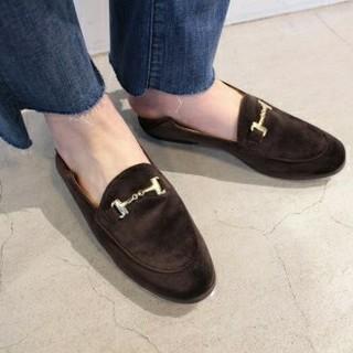 ドゥーズィエムクラス(DEUXIEME CLASSE)の今季ドゥーズィェムCAMINANDO VELOUR BIT SLIP ON未使用(ローファー/革靴)