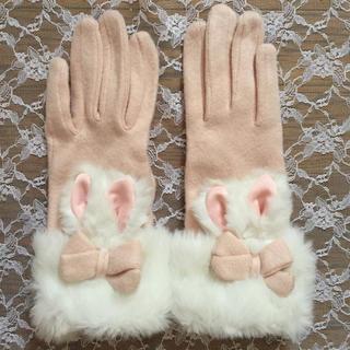 スイマー(SWIMMER)のスイマー うさ耳 手袋 ピンク うさぎ(手袋)