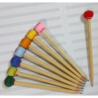 マレット鉛筆 3本 マリンバ木琴バチ型(木琴)