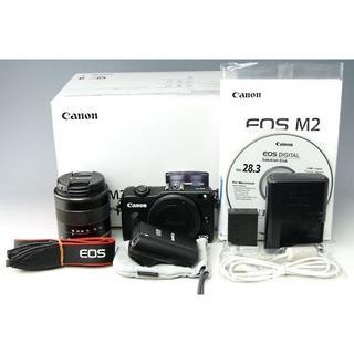 キヤノン(Canon)のEOS M2 EF-M 18-55mm IS STM 90EX レンズキット★(ミラーレス一眼)