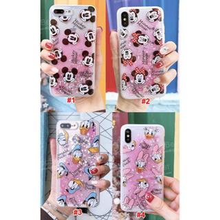 Disney - iPhoneケース ディズニー グリッター