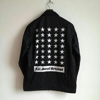 エフシーアールビー(F.C.R.B.)のF.C.R.B. 35 STAR COACHES JACKET 黒 Sサイズ(ナイロンジャケット)