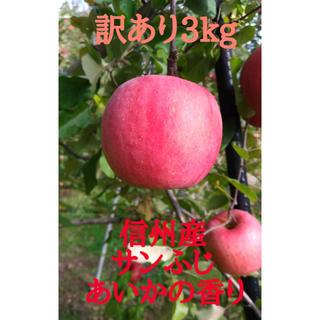 リンゴ 信州【サンふじ】【あいかの香り】約3kg(10〜11玉) 訳あり(フルーツ)