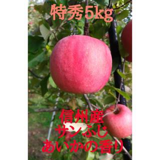 リンゴ 信州【サンふじ】【あいかの香り】約5kg(18玉)等級-特秀(フルーツ)