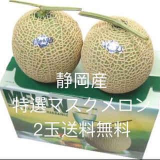 2玉送料無料  静岡産マスクメロン2玉(フルーツ)