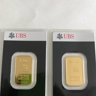 UBSインゴット10g 2個を出します (貨幣)