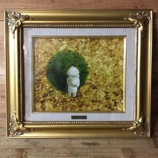 送料込み 油絵人気洋画家油絵肉筆 童子 小山退助サイズ 3号美品(絵画/タペストリー)