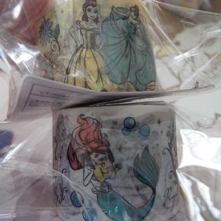 ディズニー(Disney)のディズニープリンセス マステ マスキングテープ 幅広 2個セット(テープ/マスキングテープ)