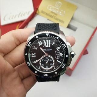 カルティエ(Cartier)のCartier42 mm直径ブルーサファイア/カモメが独立した小秒自動機械のコア(腕時計(アナログ))