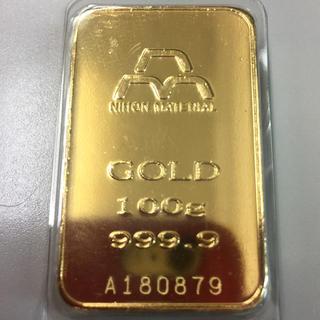 ルージャム様専用日本マテリアル100グラム純金インゴット(貨幣)