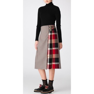 ブラックレーベルクレストブリッジ(BLACK LABEL CRESTBRIDGE)のチェックラッププリーツスカート(ロングスカート)