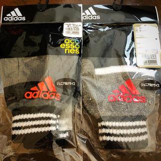 アディダス(adidas)の新品 アディダス adidas ジュニア 手袋 2点 セット (手袋)