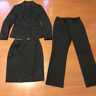 アオキ(AOKI)の美品アオキ レミューの洗えるスーツ3点セット 着回せる黒 サイズS S(スーツ)