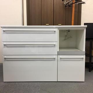 【エスエークラフト】キッチンカウンター  レンジ台 W120 美品 A-6(キッチン収納)