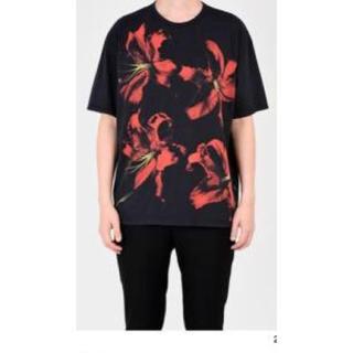ラッドミュージシャン(LAD MUSICIAN)のラッドミュージシャン  リリ柄 赤 42(Tシャツ/カットソー(半袖/袖なし))