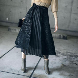 アメリヴィンテージ(Ameri VINTAGE)のameri vintage ARABESQUE LAYERED SKIRT(ロングスカート)