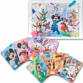 ディズニー(Disney)のディズニーリゾート35周年限定品・最新作★ミッキー&フレンズ 実写クリアファイル(キャラクターグッズ)
