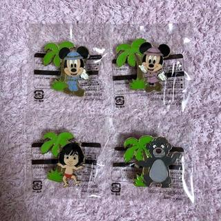 ディズニー(Disney)の☆ジャングルカーニバル探検コスチューム☆ピンバッジ4個セット(キャラクターグッズ)