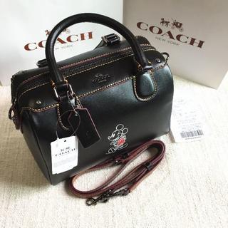 コーチ(COACH)のCOACH/コーチショルダーバッグ F59371 ブラック コーチ×ディズニー(ボストンバッグ)