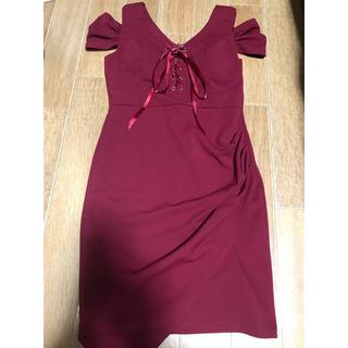 赤ドレス ボルドー キャバクラ (ナイトドレス)