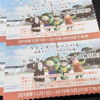ケイハンヒャッカテン(京阪百貨店)の♪なないろ♪ 様専用 ウインターカーニバル入場+貸靴 5セット(遊園地/テーマパーク)