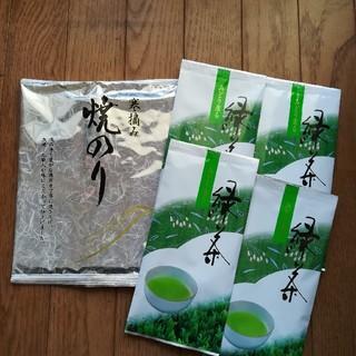 国内産 乾のり&緑茶セット(茶)