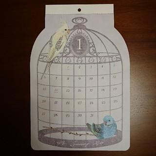 【新品】鳥かごカレンダー2019年(カレンダー/スケジュール)