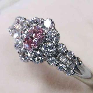 ヴァンドームアオヤマ(Vendome Aoyama)の大粒 ピンクダイヤモンド リング pt900(リング(指輪))