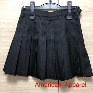 アメリカンアパレル(American Apparel)のアメリカンアパレル    黒  テニススカート  S(ミニスカート)